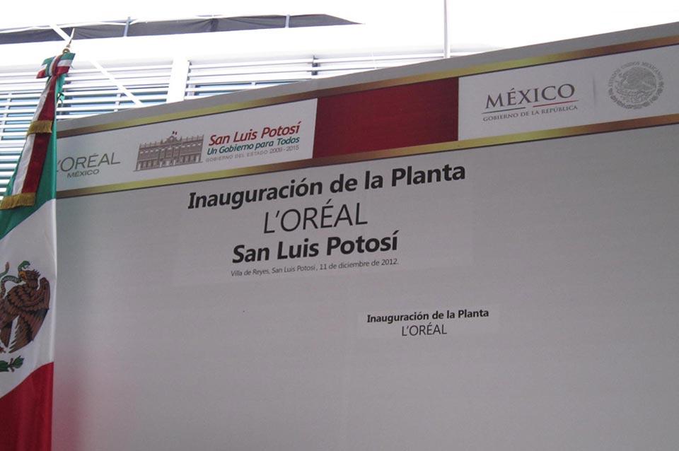 Opening L´oréal Planta 2012 San Luis Potosí Travel and Business