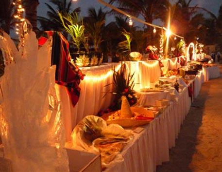 montaje de eventos- Evento Nocturno en playa