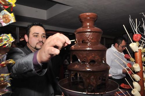 Fiestas empresariales L'Oréal fuente de chocolates