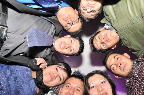 Fiestas empresariales L'Oréal, foto de grupo