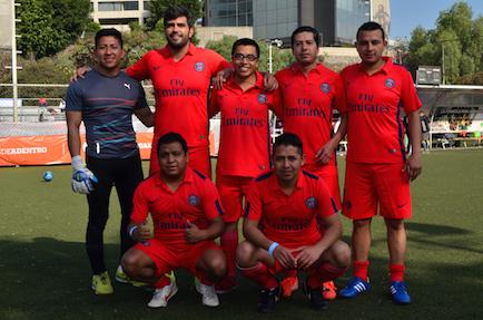 evento deportivo Danone equipo rojo